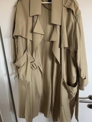 Zara Kurtka oversize beżowy-szaro-brązowy