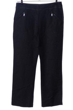 Pantalon en lin noir style décontracté