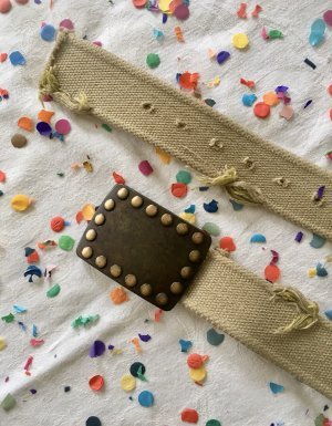 Made in Italy Canvas Belt beige-oatmeal