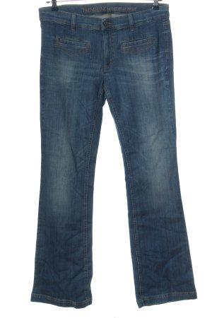 Trend Line Jeansowe spodnie dzwony niebieski W stylu casual