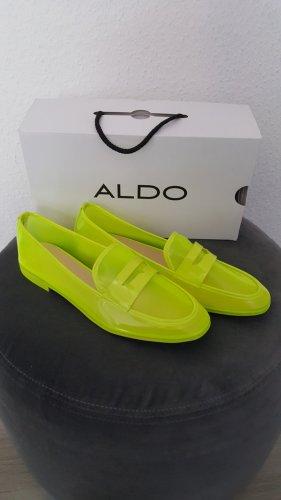 Aldo Buty wciągane żółty neonowy-limonkowy żółty