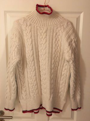 Zara Knit Cable Sweater natural white