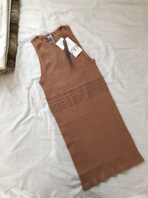 Trend schönes gropped Kleid Sommer Größe M braun