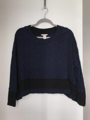 H&M Trend Camisa holgada negro-azul oscuro