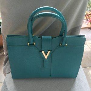 Trendfarbe 2021 Blue Atoll/Türkis Handtasche-Henkeltasche