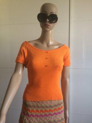 Dolce & Gabbana Jersey de manga corta naranja neón Viscosa