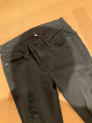 Frame Denim Pantalon strech noir tissu mixte