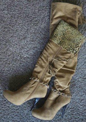 Trendige Leopard-Design Overknees von Jumex