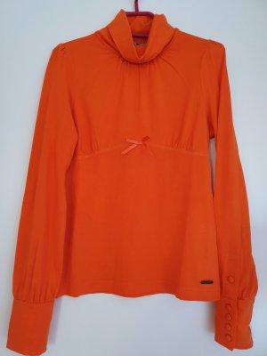 Black Label Camisa de cuello de tortuga naranja