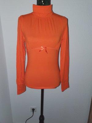 Black Label Top à col roulé orange