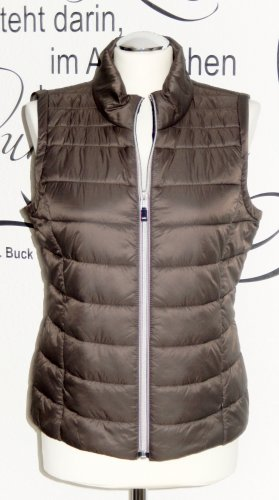 edc by Esprit Quilted Gilet taupe mixture fibre