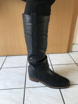 Buffalo Riding Boots black-brown leather