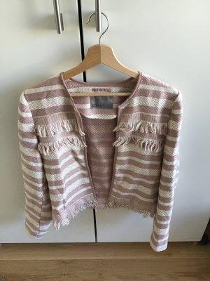 Only Tweed blazer wit-stoffig roze