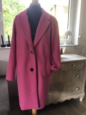 Esprit Płaszcz oversize różowy Poliester
