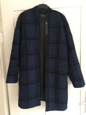 Esprit Manteau oversized noir-bleu laine