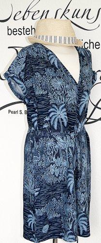 H&M Vestido playero azul oscuro-azul celeste