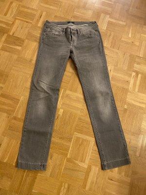 BOSS HUGO BOSS Jeansy z prostymi nogawkami jasnoszary Bawełna