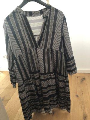 Babydoll-jurk zwart-groen-grijs