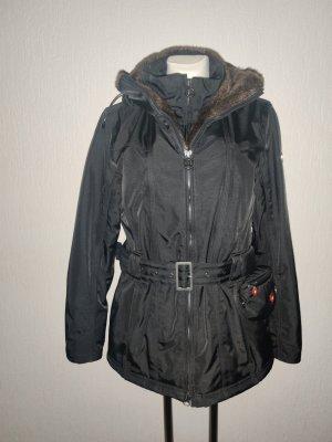 Wellensteyn Kurtka zimowa czarny Tkanina z mieszanych włókien