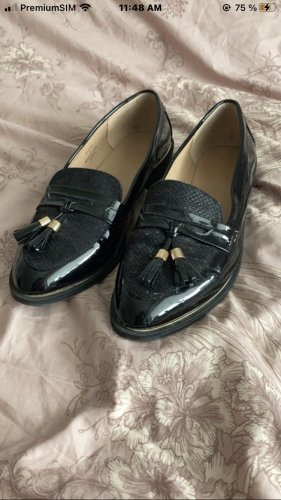 Zalando Wingtip Shoes black-gold-colored