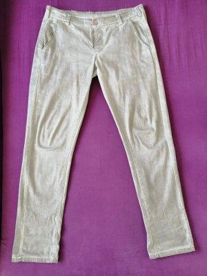 Spodnie typu boyfriend szaro-brązowy Bawełna
