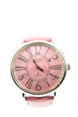 Trendy Italy Montre analogue rose style décontracté