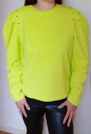 Trendy Sweatshirt mit Puffärmel und Nieten