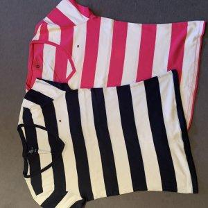 Tommy Hilfiger T-shirt blu acciaio-rosa chiaro Cotone