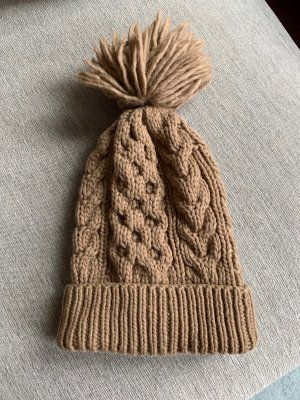 Banana Republic Knitted Hat light brown-camel wool