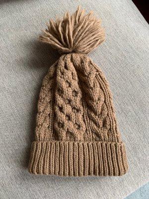 Banana Republic Chapeau en tricot marron clair-chameau laine
