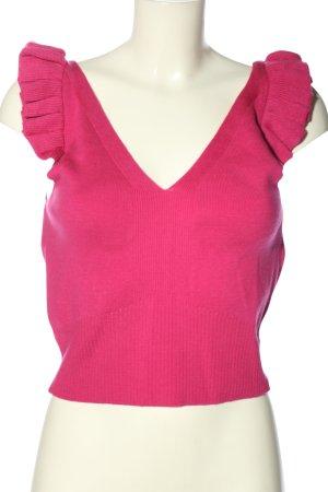 TRENDYOL Stricktop pink Casual-Look