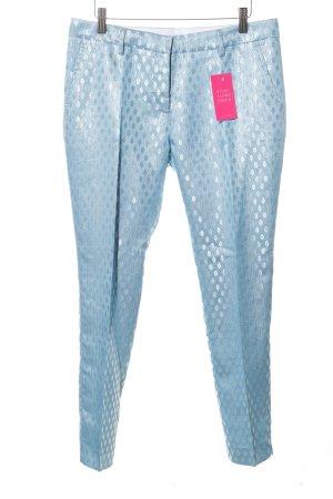 Très Chic Sartorial Bundfaltenhose blau Allover-Druck Casual-Look