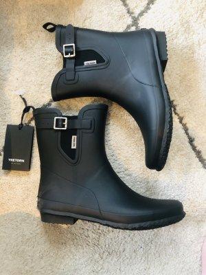 tretorn Gumowe buty czarny-biały