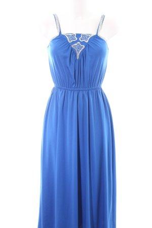 Trevira Abendkleid blau Glanz-Optik