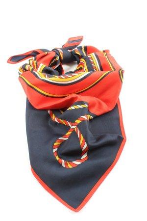 Trevira Foulard noir-rouge motif rayé style d'affaires