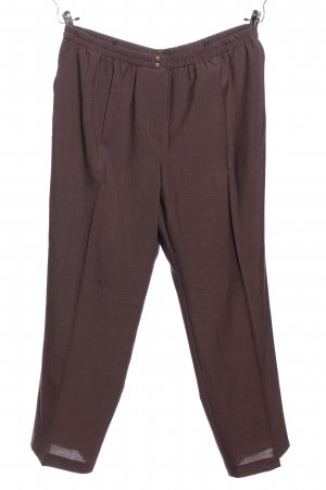 Trevira Peg Top Trousers brown business style