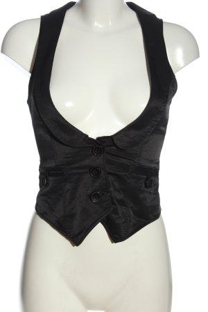 TRF Gilet de costume noir style d'affaires