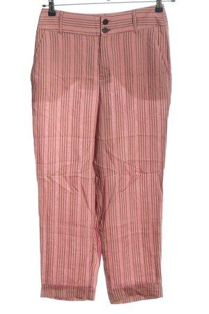 Trf by Zara Luźne spodnie różowy-czarny Wzór w paski W stylu casual