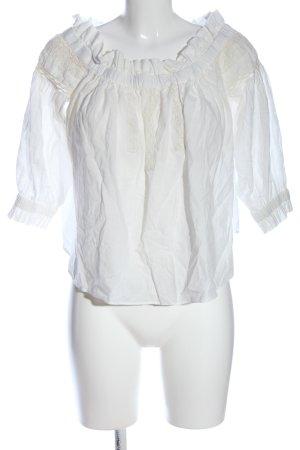 Trf by Zara Blusa alla Carmen bianco stile professionale