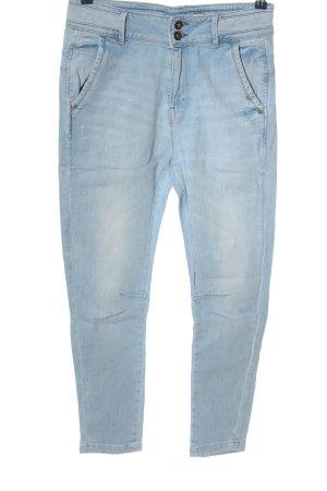 Trf by Zara Jeansy z wysokim stanem niebieski W stylu casual