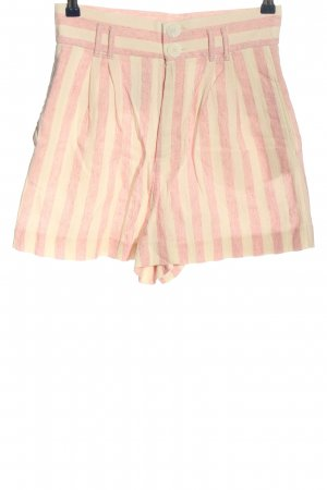 Trf by Zara Hot Pants creme-pink Streifenmuster Casual-Look