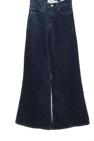 Trf by Zara Jeansowe spodnie dzwony niebieski W stylu casual