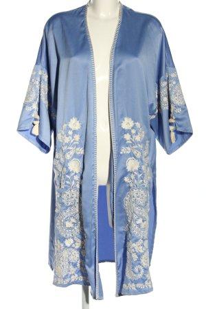 Trf by Zara Kimono azul estampado floral look casual