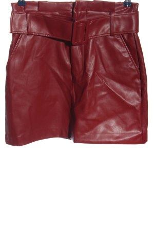 Trf by Zara Falda de cuero de imitación rojo look casual