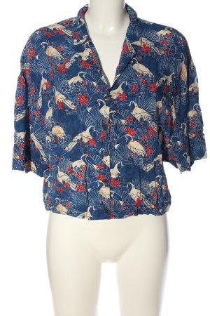Trf by Zara Shirt met korte mouwen blauw-room abstract patroon