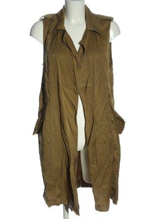 Trf by Zara Long Knitted Vest khaki elegant