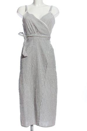 Trf by Zara Wickelkleid schwarz-weiß Streifenmuster Casual-Look