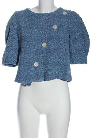 Trf by Zara Schlupf-Bluse blau Allover-Druck Casual-Look