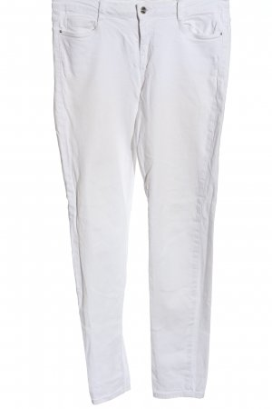 Trf by Zara Slim Jeans weiß Casual-Look