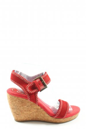 Trf by Zara Wedge Sandals red casual look